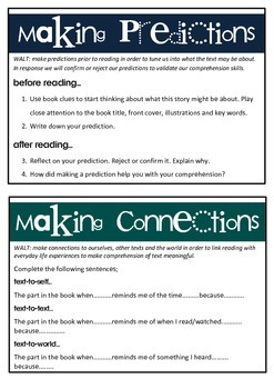 Reading Comprehension Cards