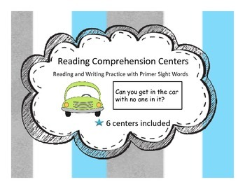 Reading Comprehension Centers Using Primer Sight Words(Wri