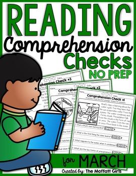 Reading Comprehension Checks for March (NO PREP)