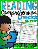 Reading Comprehension Checks for September (NO PREP)