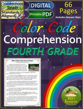 Reading Comprehension Color-Coding Text Evidence - SERIES 1