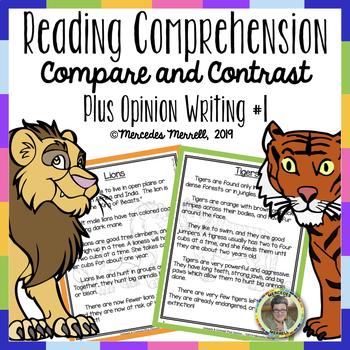 Reading Comprehension:  Compare & Contrast  Plus Opinion W