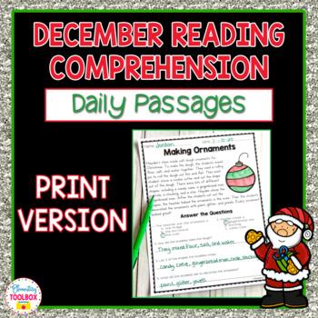 Reading Comprehension Passages for December