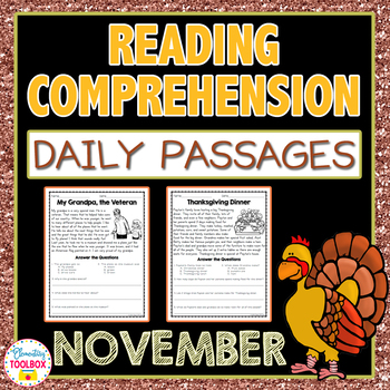 Reading Comprehension Daily Passages for November