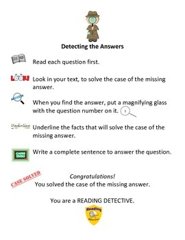 Reading Comprehension: Detecting the Answer Visual Aid