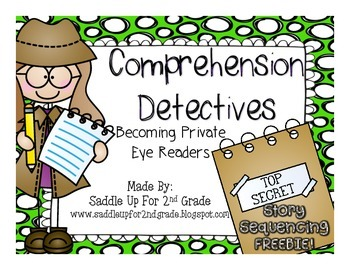 Reading Comprehension Detectives: Story Sequencing FREEBIE