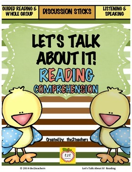 Guided Reading, Reading Comprehension, Book Discussions: