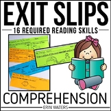 Guided Reading Comprehension Exit Slips: Year-Round DRA Sk