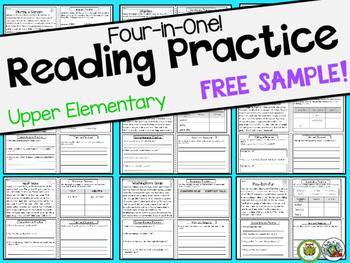 Reading Comprehension Passages Upper Elementary FREEBIE