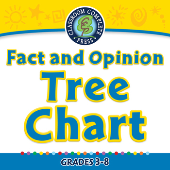 Reading Comprehension: Fact and Opinion Tree Chart - NOTEB