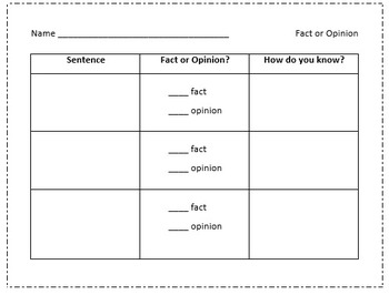 Reading Comprehension: Fact/Opinion, Connections, Inferenc