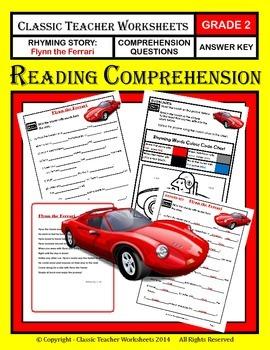 Reading Comprehension - Grade 2 (2nd Grade) - Rhyming Stor