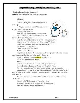 2 Reading Comprehension - Grade 3 IEP Progress Monitoring
