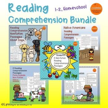 Reading Comprehension Grades 1-2, Homeschool Bundle