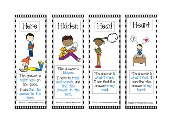 4H Reading Comprehension Strategies: Here, Hidden, Head or