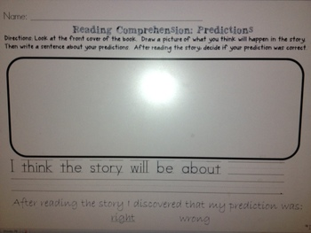 Reading Comprehension: Making Predictions and Characters a