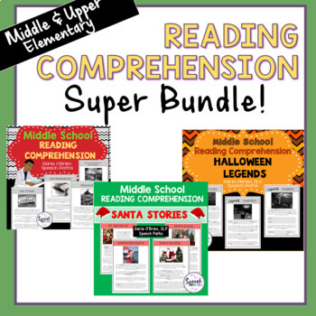 Reading Comprehension--Middle School Bundle