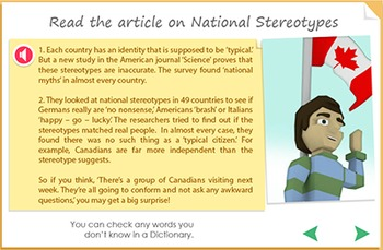 Reading Comprehension - National Stereotypes