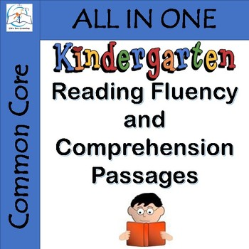 Kindergarten Reading Fluency and Comprehension Passages