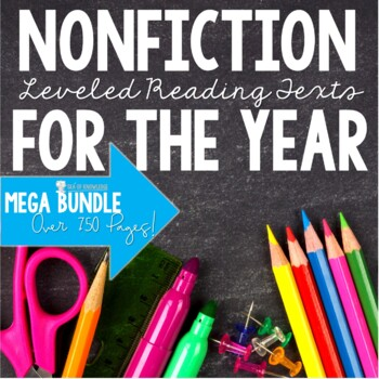 Reading Comprehension Nonfiction Reading Task Cards - The Bundle