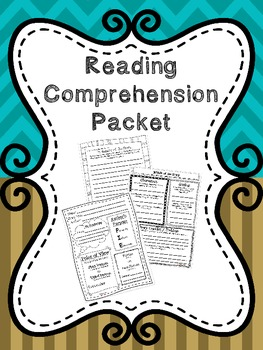 """Reading Comprehension Packet with 5th Grade """"I Can"""" statements"""