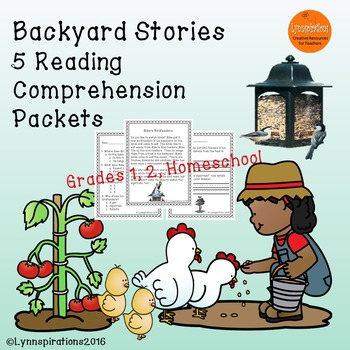 Backyard Stories - 5 Reading Comprehension Passages for Gr
