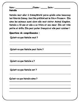 Reading Comprehension Passage & Questions