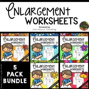 Busy Work: Enlargement and Scaling Pictures (5-PACK BUNDLE)