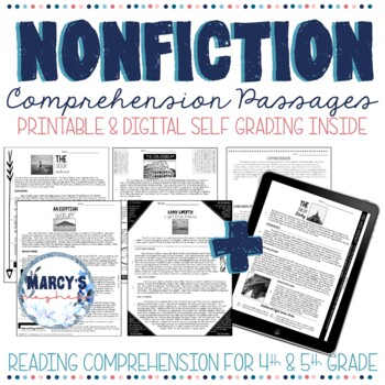 Non-Fiction Reading Comprehension 4th & 5th grade - STAAR Reading