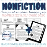 Close Reading Comprehension Passages 4th & 5th grade STAAR