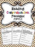 Reading Comprehension Passages: ANIMALS