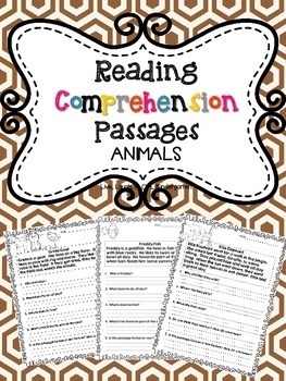 Reading Comprehension Passages: ANIMALS