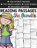 Text Evidence Reading Comprehension Passages {BUNDLED 78 P