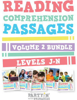 Reading Comprehension Passages Bundle: Guided Reading Leve