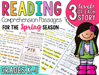 Differentiated Reading Passages Spring for K-1