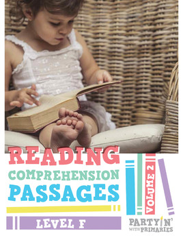 Reading Comprehension Passages: Guided Reading Level F Volume 2