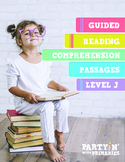 Reading Comprehension Passages: Guided Reading Level J