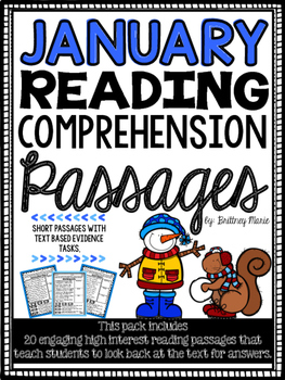 January Reading Comprehension Passages