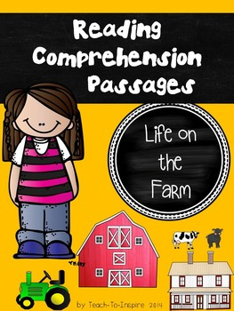 Reading Comprehension Passages:  Life on the Farm (Kinderg