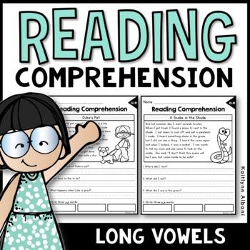 Reading Comprehension Passages - Long Vowels