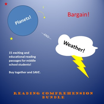 15 Reading Comprehension Passages About Planets and Weather