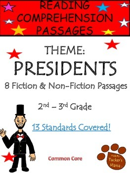 Reading Comprehension Passages- Presidents