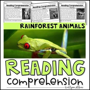 Reading Comprehension Passages - Rainforest Animals