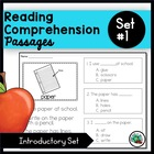 Reading Comprehension Passages/ Special Education
