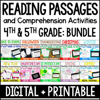 Reading Comprehension Passages and Activities 4th and 5th