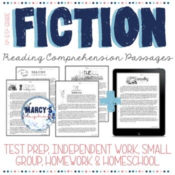 Fiction Reading Comprehension Passages for 4th & 5th grade