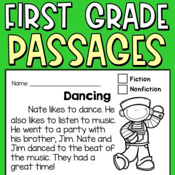 Reading Comprehension Passages for First and Second Graders