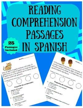 Reading Comprehension Passages in Spanish (Lectura facil e