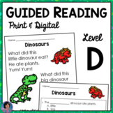 Reading Comprehension Passages Guided Reading Level D