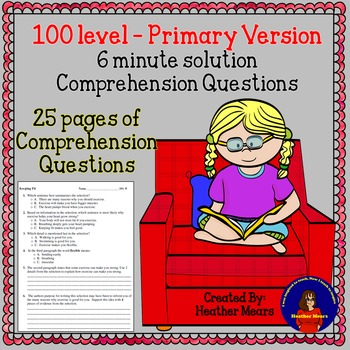 Reading Comprehension 100 level Primary 6 minute solution